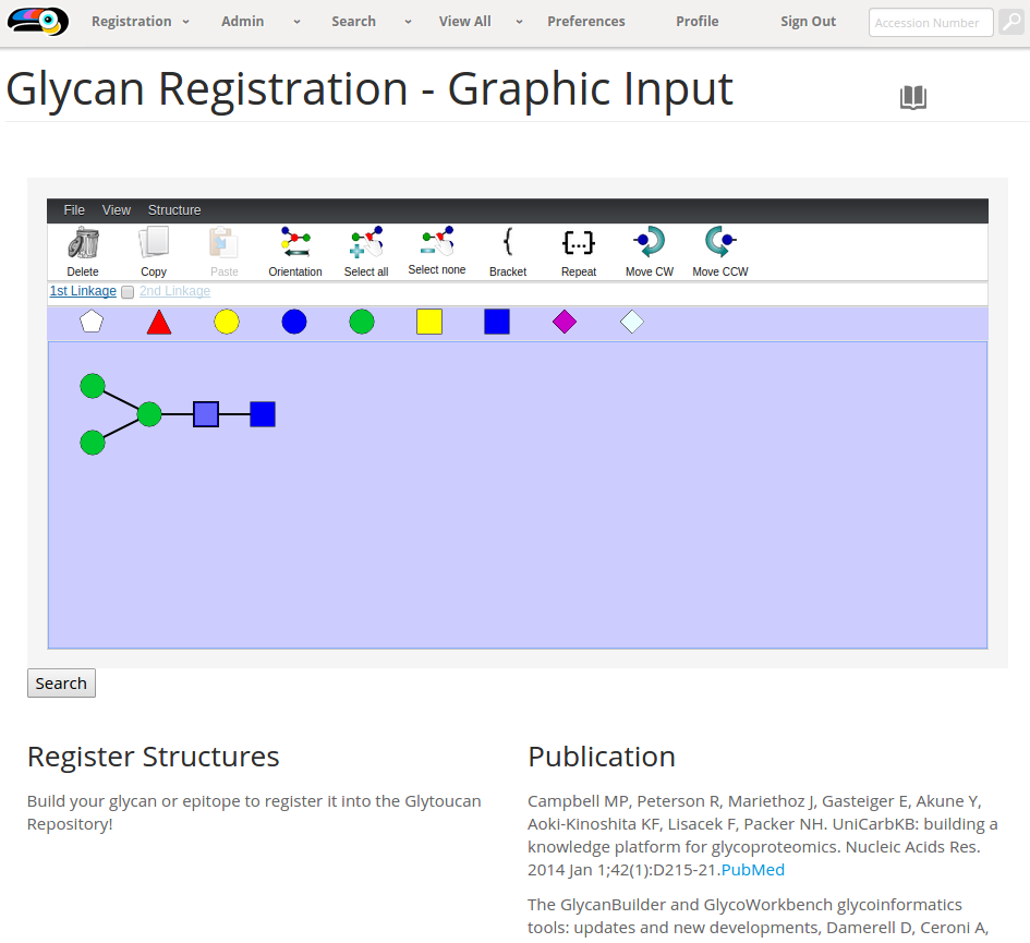 Glytoucan Graphical Interface